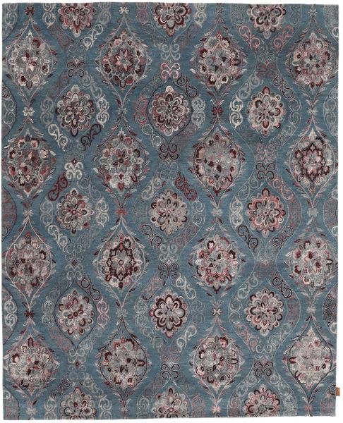 Himalaya Bamboo Silk Rug 247X306 Authentic  Modern Handknotted Blue/Dark Grey ( India)