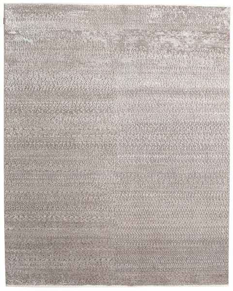 Himalaya Bamboo Silk Rug 247X310 Authentic  Modern Handknotted Light Grey/White/Creme ( India)