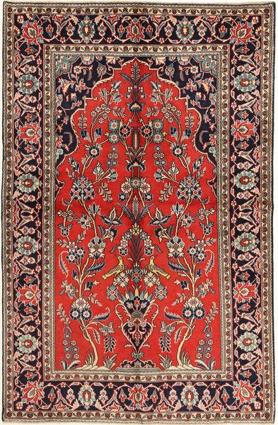 Keshan Matta 130X205 Äkta Orientalisk Handknuten Brun/Mörkgrön (Ull, Persien/Iran)