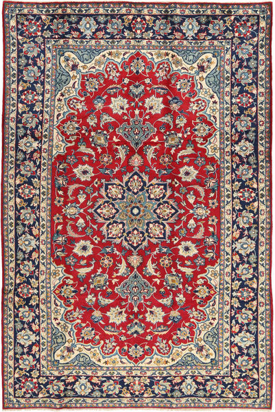 Najafabad Rug 203X307 Authentic  Oriental Handknotted Dark Purple/Crimson Red (Wool, Persia/Iran)