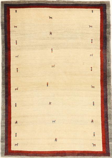 ロリ Baft ペルシャ 絨毯 94X136 モダン 手織り ベージュ/薄茶色 (ウール, ペルシャ/イラン)