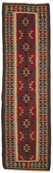 Kelim Maimane Matto 83X283 Itämainen Käsinkudottu Käytävämatto Tummanruskea/Tummanpunainen/Vaaleanruskea (Villa, Afganistan)