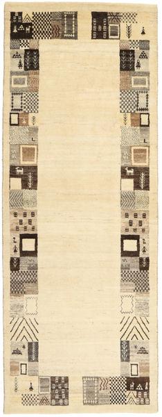 Lori Baft Persisk Matta 82X217 Äkta Modern Handknuten Hallmatta Beige/Mörkbeige (Ull, Persien/Iran)