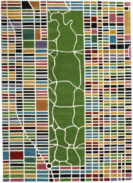 New-York/Manhattan Handtufted - Multi Szőnyeg 200X300 Modern Bézs/Olívazöld (Gyapjú, India)