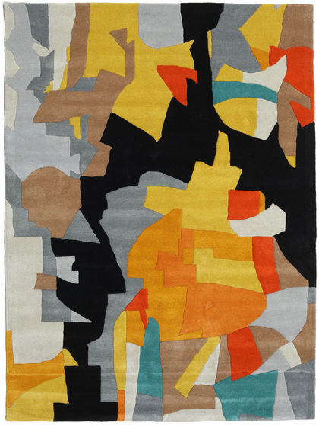 Rasmus Tapis 160X230 Moderne Noir/Gris Clair (Laine, Inde)