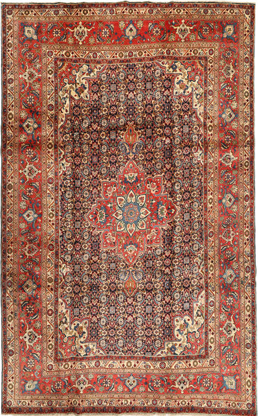 Sarough Vloerkleed 217X353 Echt Oosters Handgeknoopt Bruin/Roestkleur (Wol, Perzië/Iran)