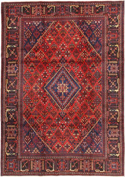 Joshaghan Teppe 222X318 Ekte Orientalsk Håndknyttet Mørk Rød/Brun (Ull, Persia/Iran)
