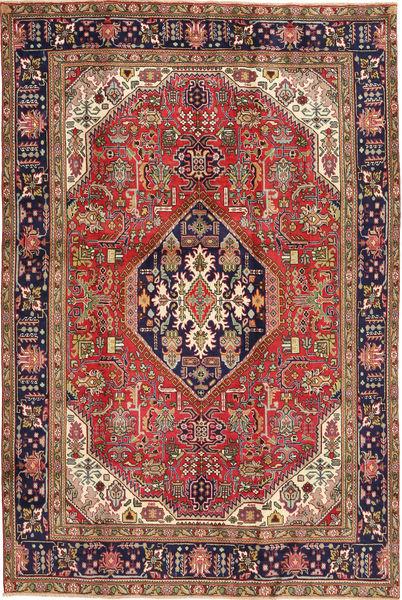 Tebriz Dywan 192X285 Orientalny Tkany Ręcznie Ciemnoczerwony/Jasnobrązowy (Wełna, Persja/Iran)