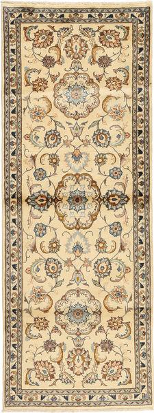 Kashmar Matto 87X235 Itämainen Käsinsolmittu Käytävämatto Beige/Vaaleanruskea (Villa, Persia/Iran)