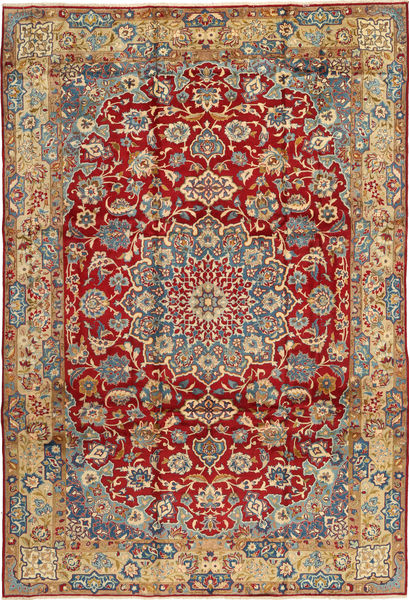 Najafabad Rug 247X375 Authentic  Oriental Handknotted Dark Red/Brown (Wool, Persia/Iran)