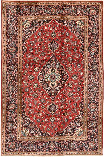 Keshan Matta 195X295 Äkta Orientalisk Handknuten Mörkbrun/Roströd (Ull, Persien/Iran)