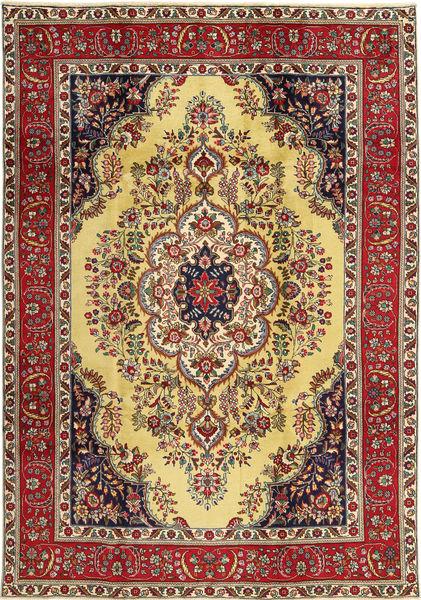 Tabriz Rug 225X325 Authentic  Oriental Handknotted Dark Red/Yellow (Wool, Persia/Iran)