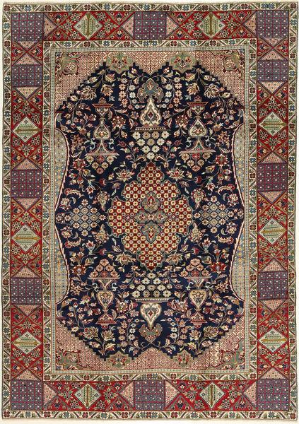 Najafabad Matto 220X317 Itämainen Käsinsolmittu Vaaleanruskea/Musta (Villa, Persia/Iran)