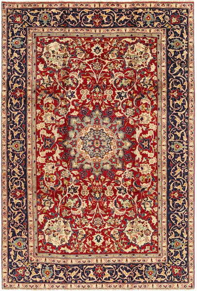 Yazd Rug 235X342 Authentic  Oriental Handknotted Dark Red/Dark Purple (Wool, Persia/Iran)