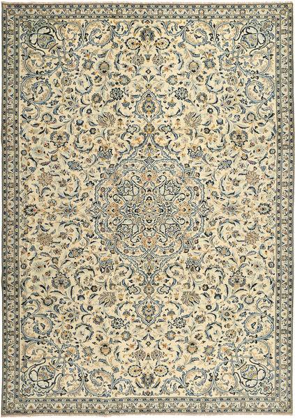 Keshan Teppe 243X343 Ekte Orientalsk Håndknyttet Beige/Mørk Grå (Ull, Persia/Iran)