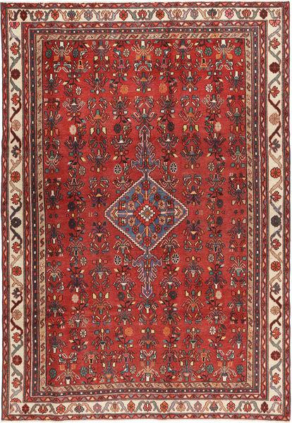 Hamadan Patina Matto 195X290 Itämainen Käsinsolmittu Ruoste/Ruskea (Villa, Persia/Iran)