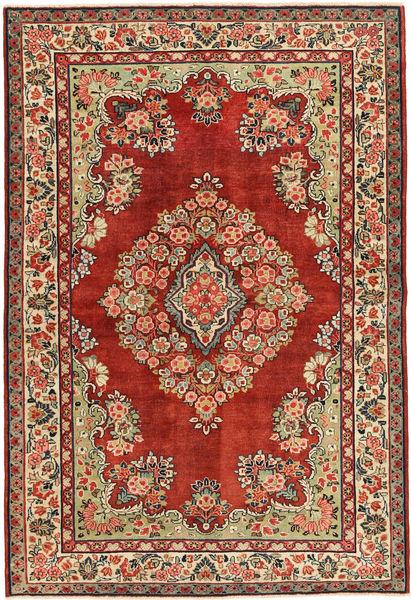Saruk Patina Dywan 222X317 Orientalny Tkany Ręcznie Ciemnoczerwony/Ciemnobrązowy (Wełna, Persja/Iran)