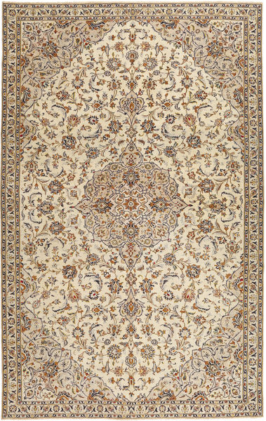 Keszan Patina Dywan 209X333 Orientalny Tkany Ręcznie Beżowy/Jasnoszary (Wełna, Persja/Iran)