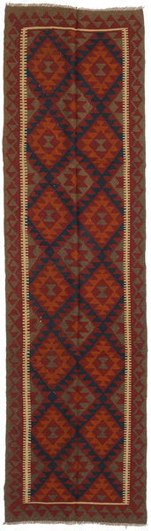 Kilim Maimane Rug 81X298 Authentic  Oriental Handwoven Hallway Runner  Dark Red/Dark Brown (Wool, Afghanistan)