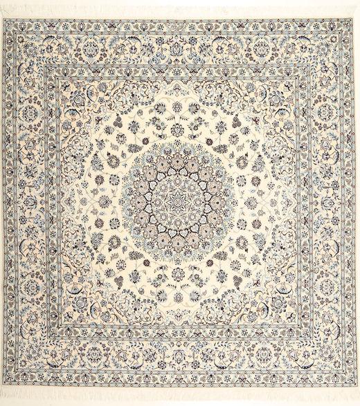 Nain 6La Habibian Alfombra 255X265 Oriental Hecha A Mano Cuadrada Beige/Gris Claro Grande (Lana/Seda, Persia/Irán)