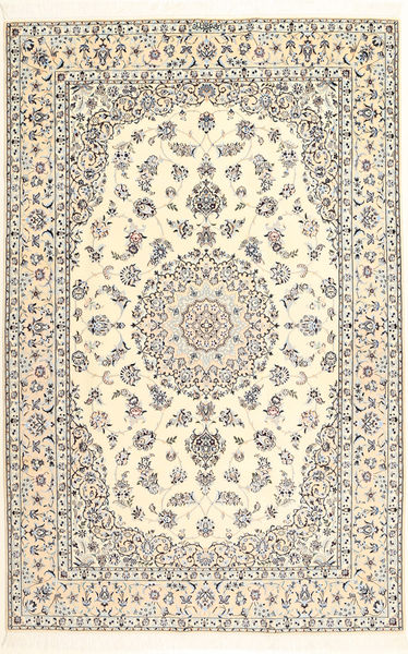 Nain 6La Matto 163X250 Itämainen Käsinsolmittu Beige/Vaaleanharmaa (Villa/Silkki, Persia/Iran)
