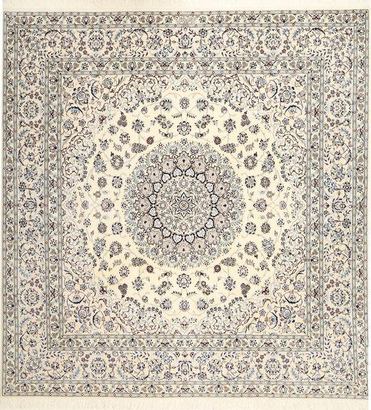Nain 6La Habibian Alfombra 255X260 Oriental Hecha A Mano Cuadrada Beige/Gris Claro Grande (Lana/Seda, Persia/Irán)