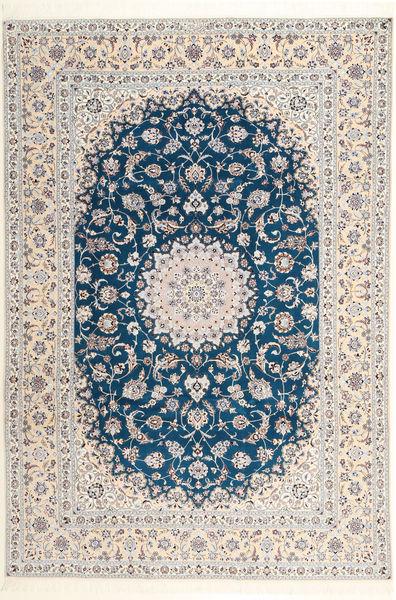 Nain 6La Habibian Rug 204X304 Authentic  Oriental Handknotted Light Grey/Beige (Wool/Silk, Persia/Iran)