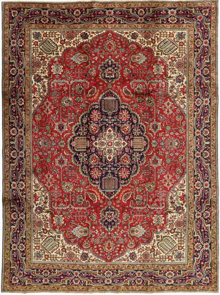 Tabriz Rug 245X327 Authentic  Oriental Handknotted Dark Brown/Rust Red (Wool, Persia/Iran)