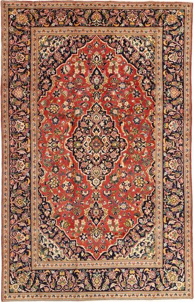 Keshan Rug 197X303 Authentic  Oriental Handknotted Crimson Red/Beige (Wool, Persia/Iran)