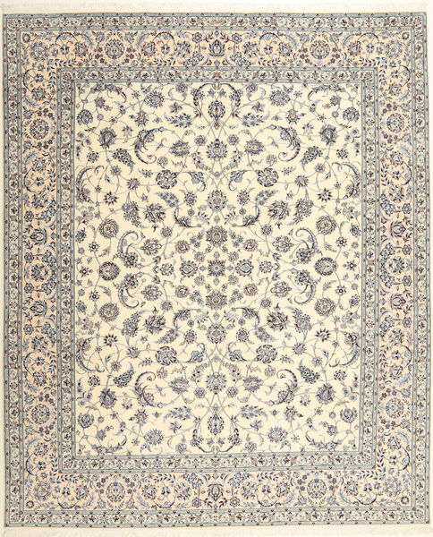 Naïn 6La Habibian Tapis 262X314 D'orient Fait Main Beige/Gris Clair/Marron Clair Grand (Laine/Soie, Perse/Iran)
