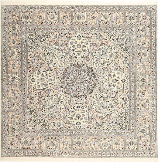 Nain 6La Habibian Alfombra 248X250 Oriental Hecha A Mano Cuadrada Marrón Claro/Beige (Lana/Seda, Persia/Irán)