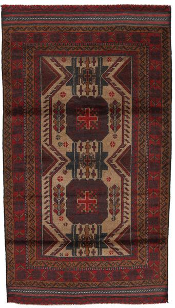 Beluch Tæppe 103X190 Ægte Orientalsk Håndknyttet Mørkerød/Mørkebrun (Uld, Afghanistan)