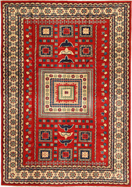 Kazak Teppe 203X290 Ekte Orientalsk Håndknyttet Rust/Mørk Rød (Ull, Pakistan)