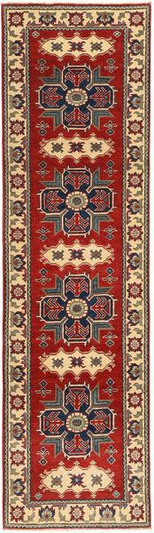 Kazak Matto 78X290 Itämainen Käsinsolmittu Käytävämatto Vaaleanruskea/Musta (Villa, Pakistan)