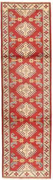 Kazak Rug 79X290 Authentic  Oriental Handknotted Hallway Runner  Rust Red/Light Brown (Wool, Pakistan)