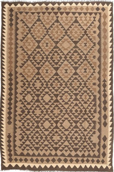 Kilim Maimane Rug 191X290 Authentic  Oriental Handwoven Light Brown/Brown (Wool, Afghanistan)