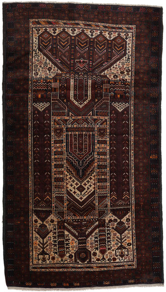 Baluch Rug 115X202 Authentic  Oriental Handknotted Dark Brown (Wool, Afghanistan)