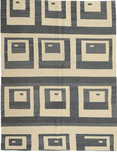 Kelim Moderni Matto 149X196 Moderni Käsinsolmittu Tummanharmaa/Tummanbeige (Villa, Afganistan)