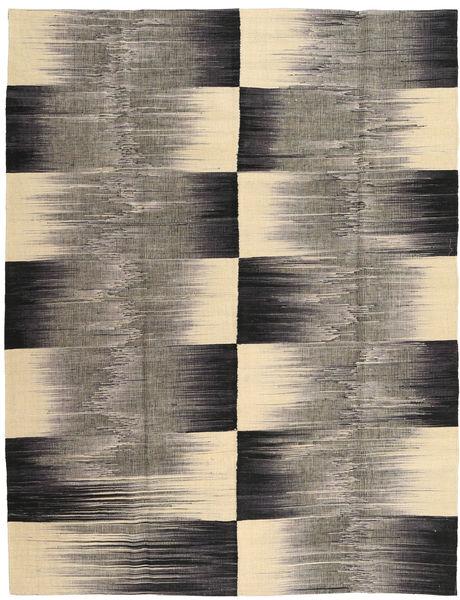 Kelim Moderni Matto 181X230 Moderni Käsinsolmittu Tummanharmaa/Vaaleanruskea (Villa, Intia)