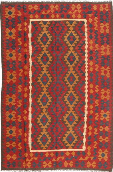 Kilim Maimane Rug 196X290 Authentic  Oriental Handwoven Rust Red/Light Brown/Dark Grey (Wool, Afghanistan)