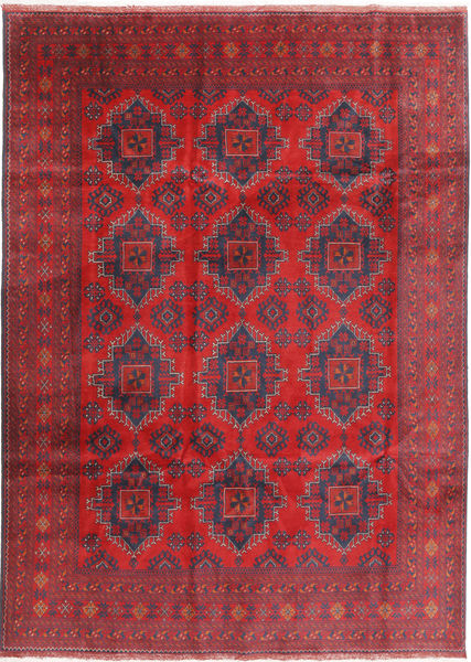Afghan Khal Mohammadi Rug 202X288 Authentic  Oriental Handknotted Dark Red/Crimson Red (Wool, Afghanistan)