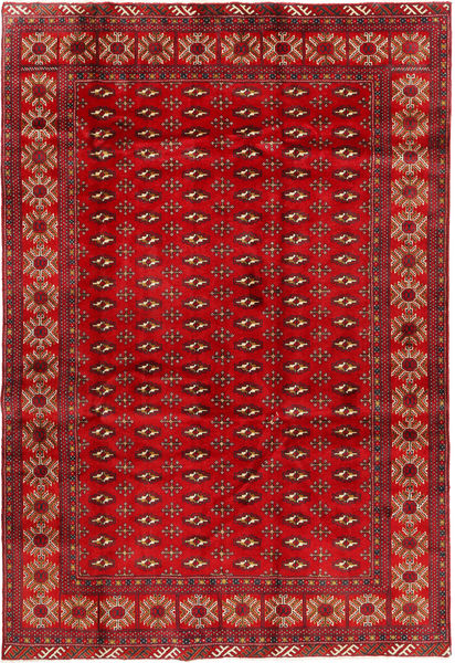 Turkaman Rug 200X293 Authentic  Oriental Handknotted Dark Red/Crimson Red (Wool, Persia/Iran)