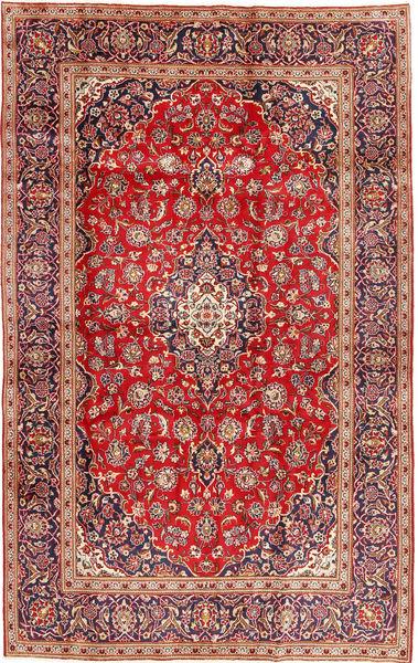 Keshan Vloerkleed 196X307 Echt Oosters Handgeknoopt Bruin/Roestkleur (Wol, Perzië/Iran)