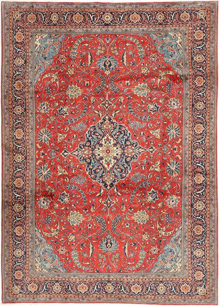 Sarough Matto 240X340 Itämainen Käsinsolmittu Tummanharmaa/Ruskea (Villa, Persia/Iran)