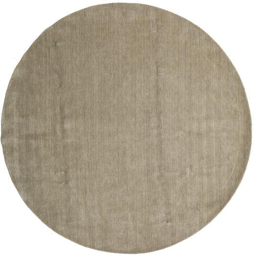 ハンドルーム - グレー 絨毯 Ø 300 モダン ラウンド 薄茶色/オリーブ色 大きな (ウール, インド)