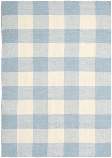 Check Kilim Covor 160X230 Modern Lucrate De Mână Bej-Crem/Albastru Deschis/Bej (Lână, India)
