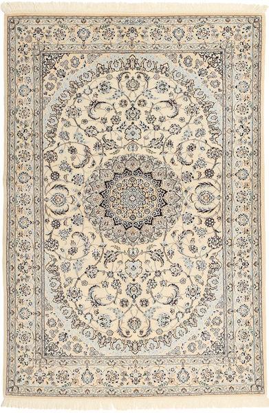 Nain 6La Habibian Matto 135X198 Itämainen Käsinsolmittu Vaaleanruskea/Beige (Villa/Silkki, Persia/Iran)