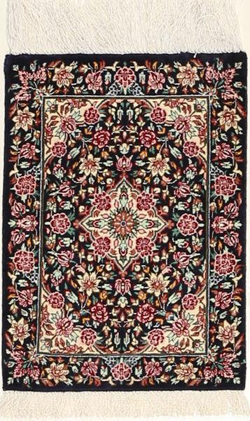 Ghom De Seda Alfombra 30X40 Oriental Hecha A Mano Negro/Beige (Seda, Persia/Irán)