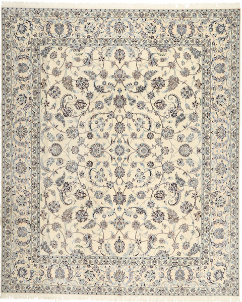 Nain 6La Habibian Rug 255X306 Authentic  Oriental Handknotted Beige/Light Grey Large (Wool/Silk, Persia/Iran)