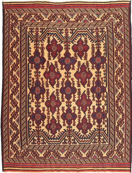 Chilim Golbarjasta Covor 197X262 Orientale Lucrate De Mână Maro/Roșu-Închis (Lână, Afganistan)
